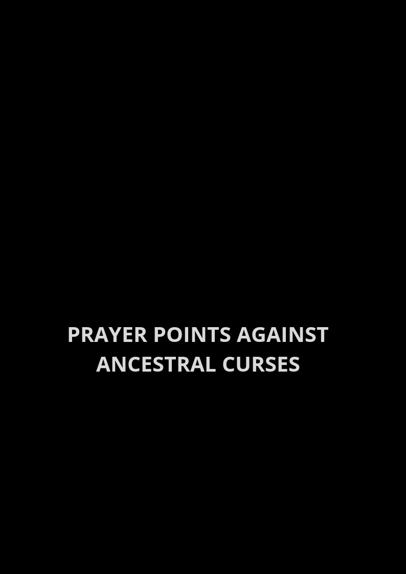 50 Powerful Prayer Points Against Household Witchcraft | PRAYER POINTS