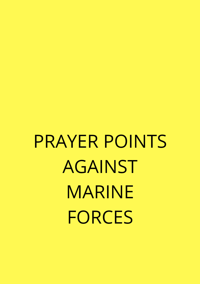 20 Deliverance Prayer Points From Marine Water Spirits | PRAYER POINTS