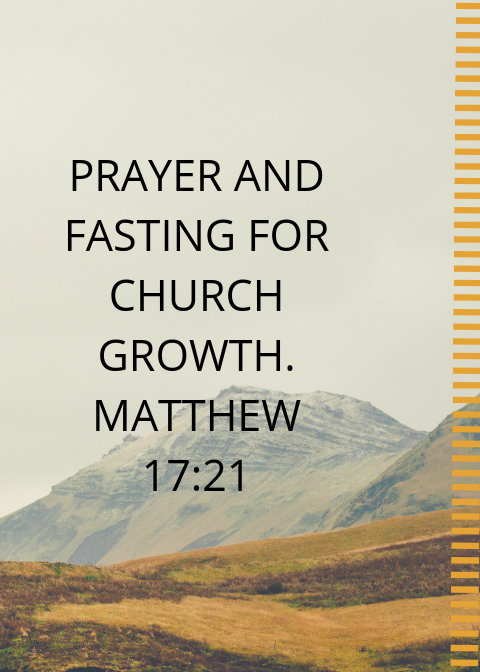 21 Days Prayer and fasting prayer points for the Church 2019