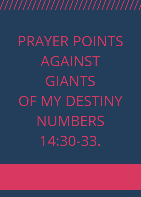 90 Prayer Points Against Giants In Your Destiny | PRAYER POINTS
