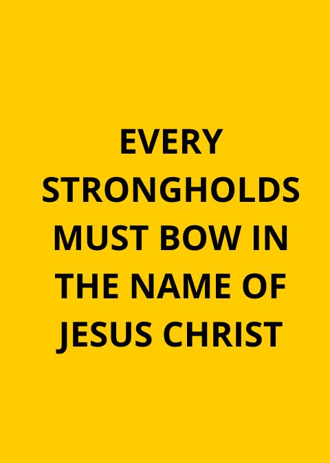 ஒவ்வொரு பலமும் இயேசு கிறிஸ்துவின் பெயரில் இருக்க வேண்டும்
