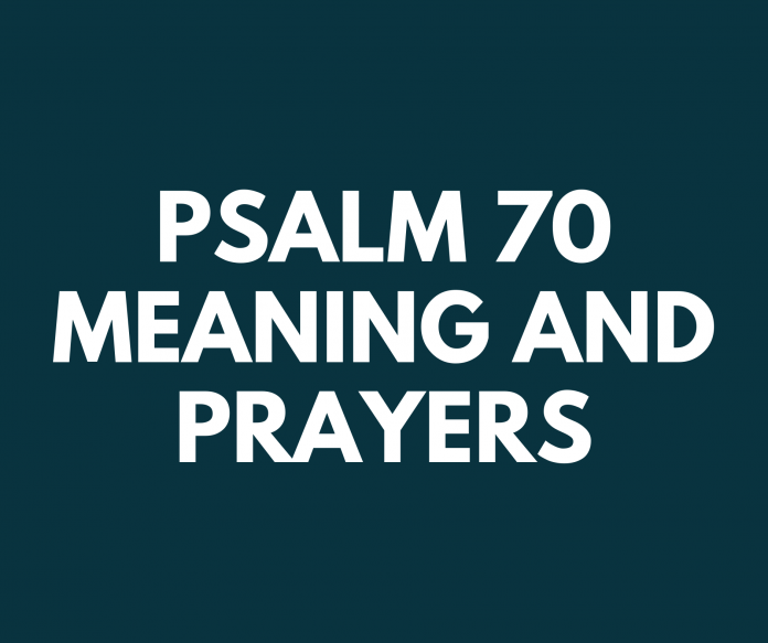 PSALM 70 som betyr vers for vers